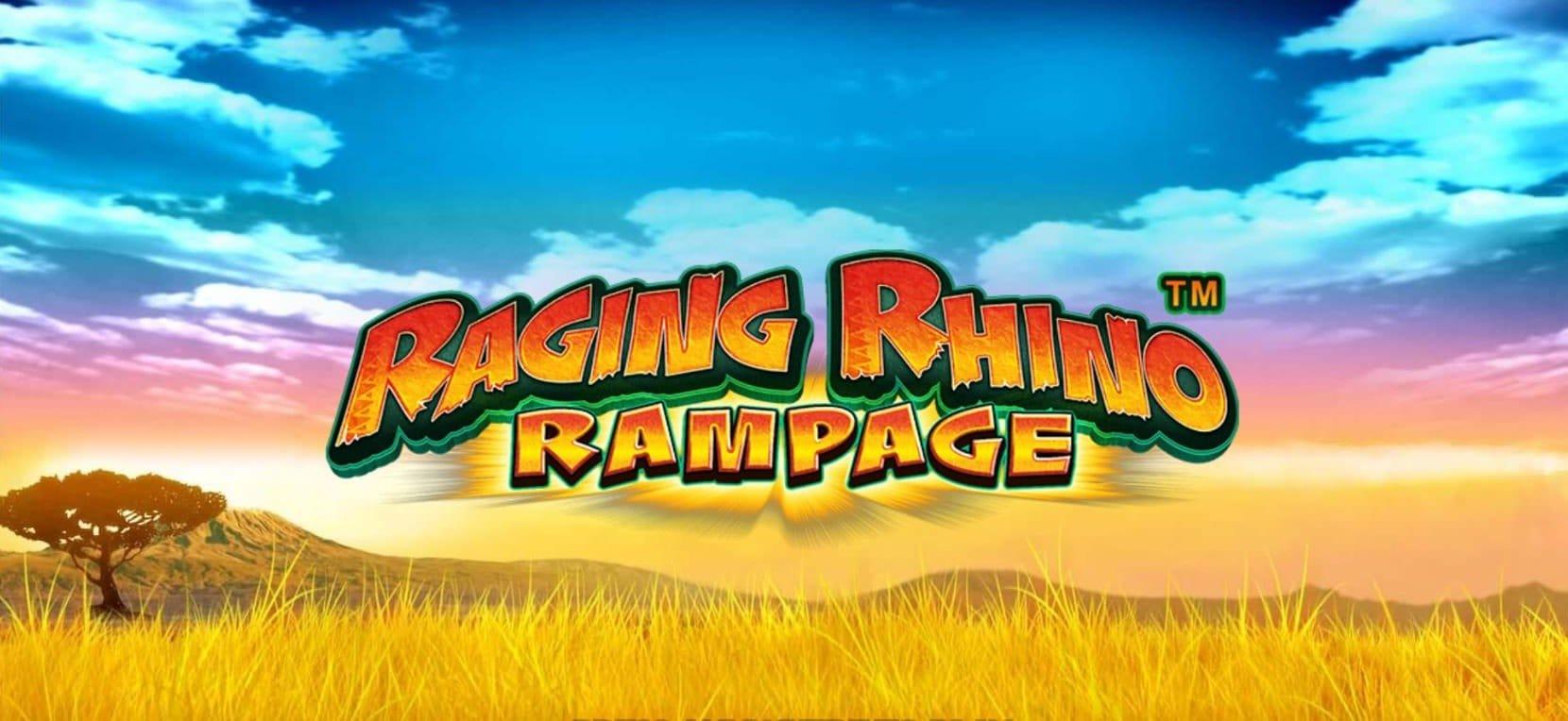 Raging Rhino Rampage Slot Logo Slots Baby