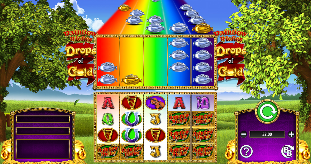 Rainbow Riches Drops Of Gold Gameplay