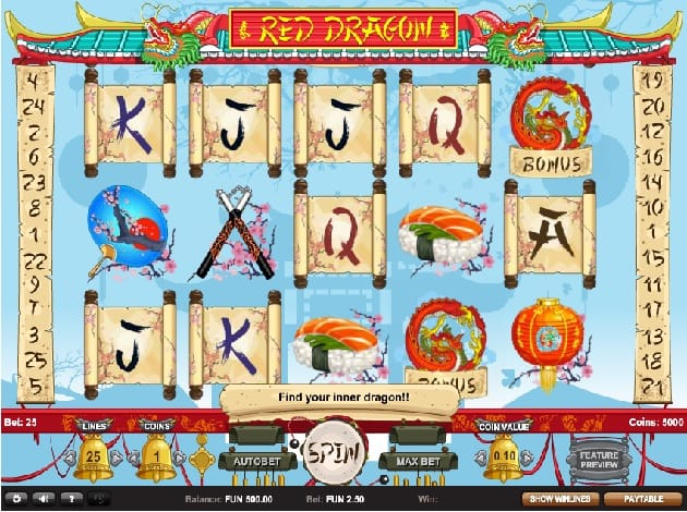 Red Dragon Slot Game Gameplay