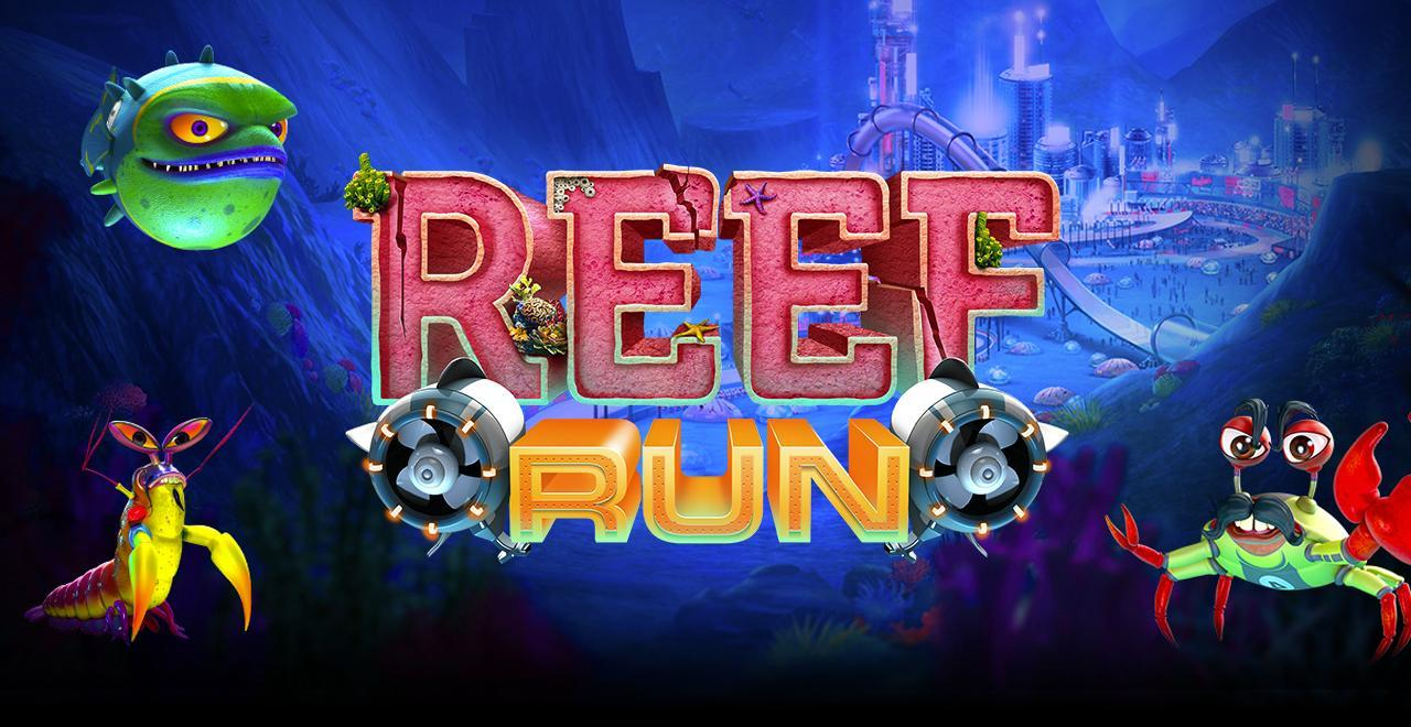 reef run slots game logo