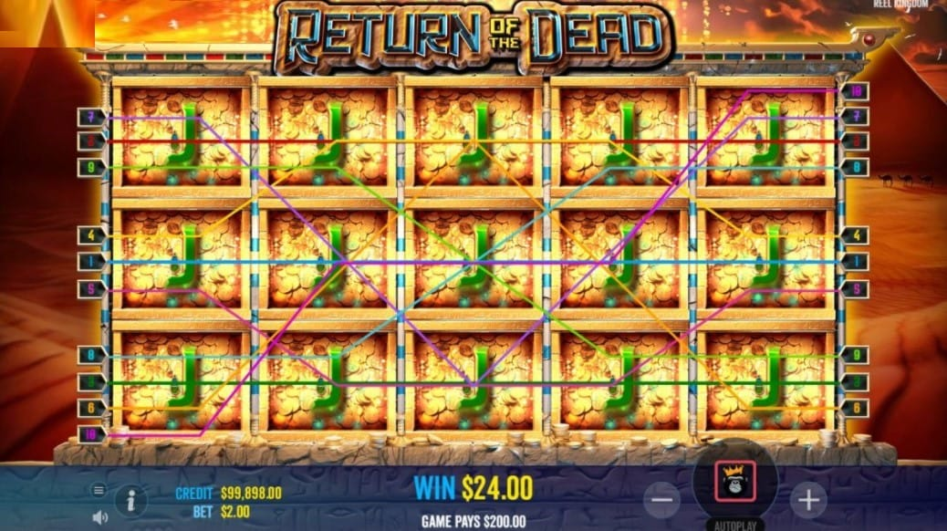 Return of the Dead Slot Gameplay