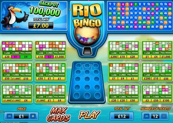 Rio Bingo Gameplay
