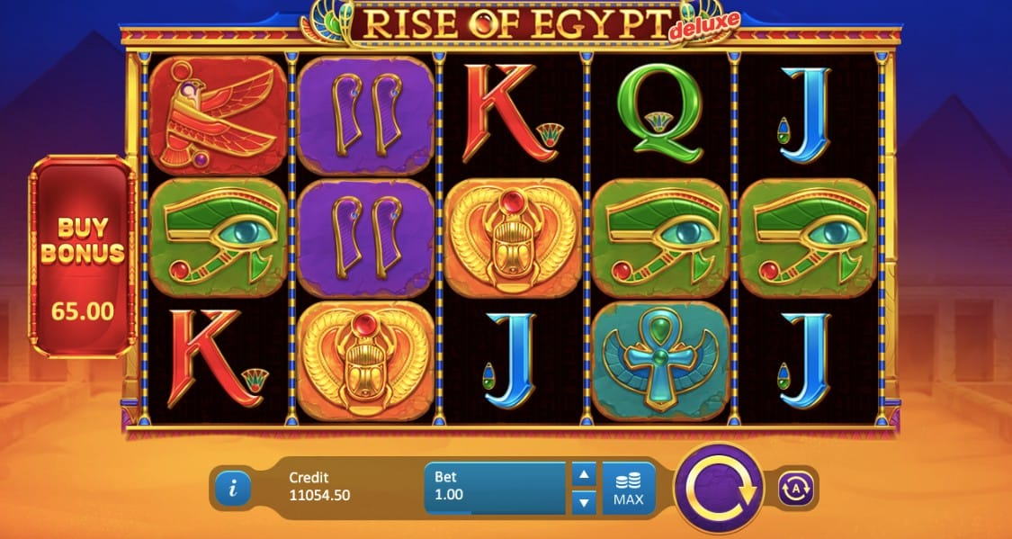 Rise of Egypt Deluxe Slots Gameplay