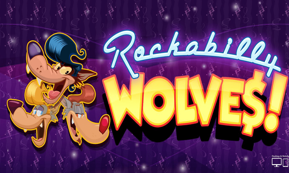 Rockabilly Wolves Slot Logo Image