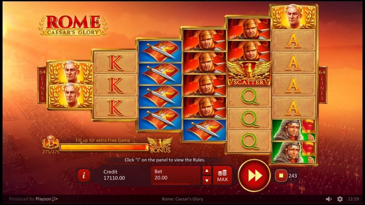 Rome: Caesar's Glory Casino Game Play