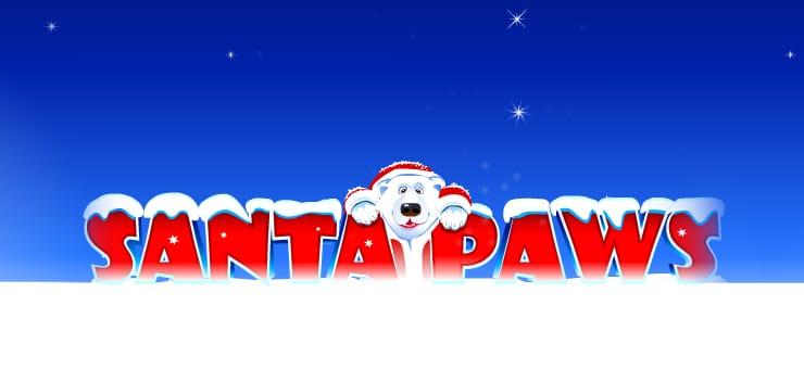 Santa Paws Slot Game Logo