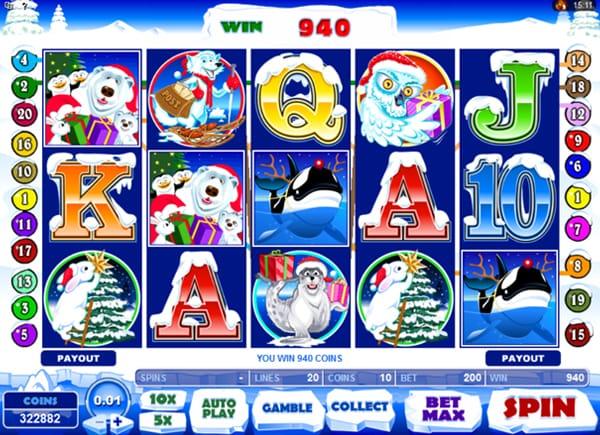 Santa Paws Slot Game Screenshot