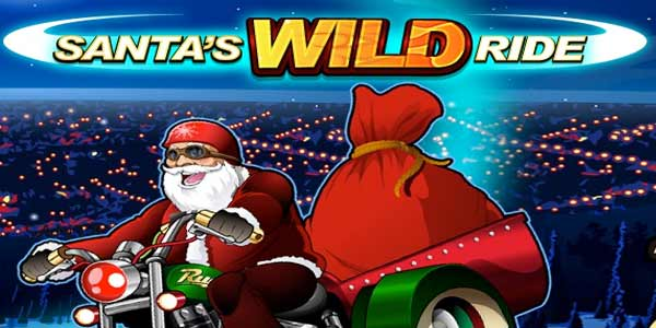 Santa's Wild Ride Christmas Slot Game Logo