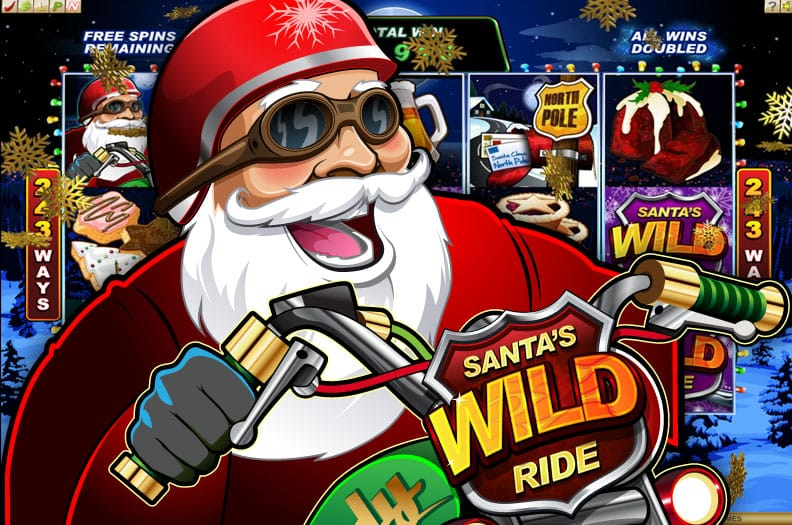 Santa's Wild Ride Christmas Slot Game Screenshot