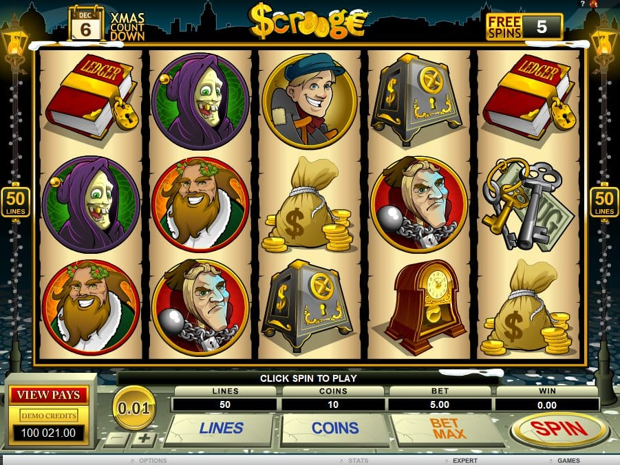 Scrooge Christmas Slot Game Gameplay