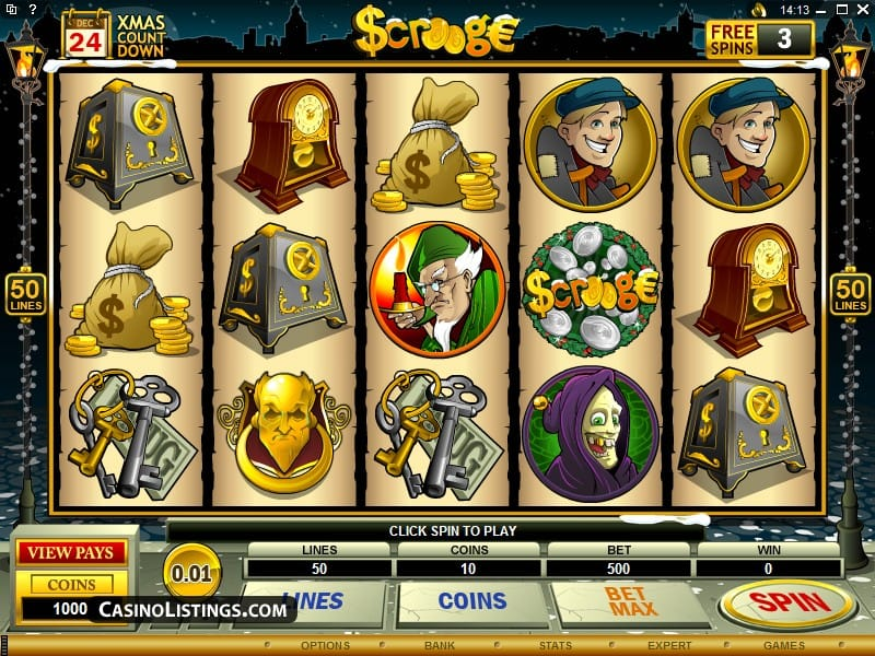 Scrooge Christmas Slot Game Screenshot