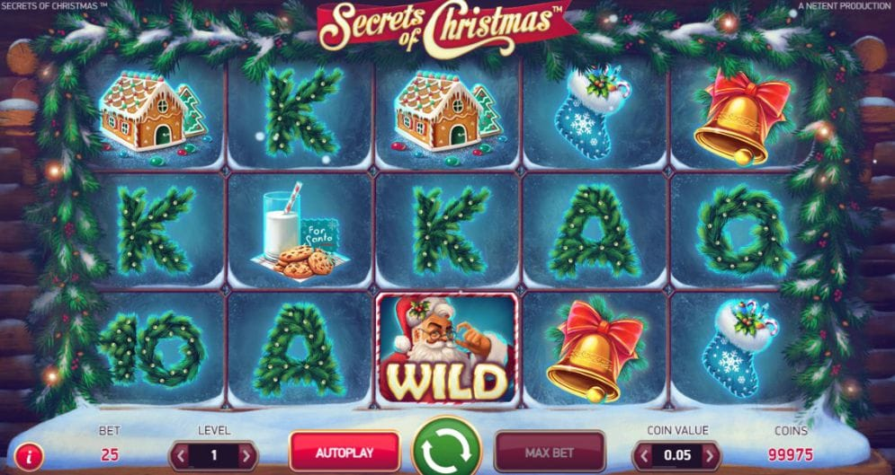 Secrets of Christmas Slots Game gameplay