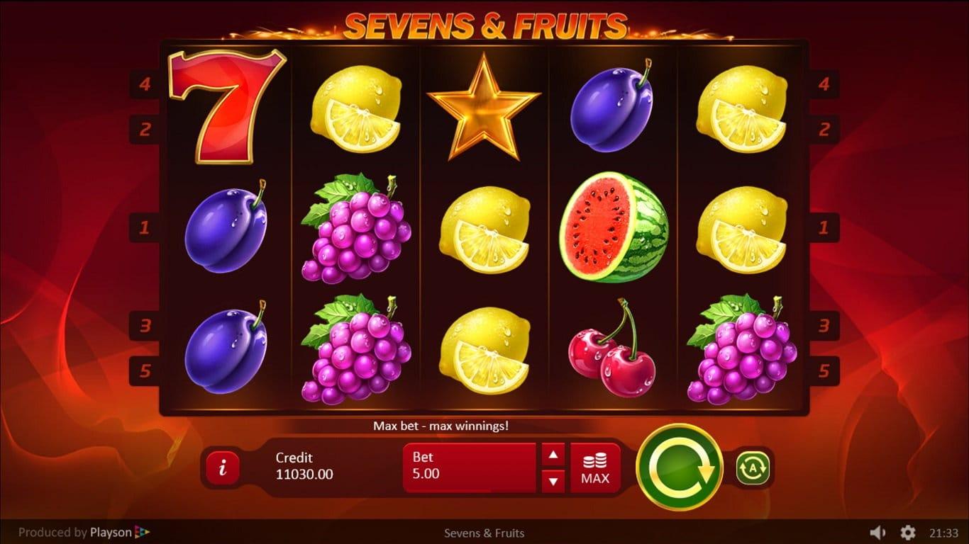 sevens n fruits