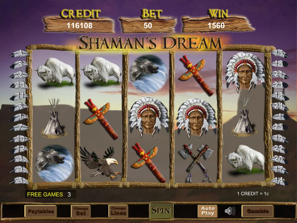 Shaman's Dream Gameplay Progressive