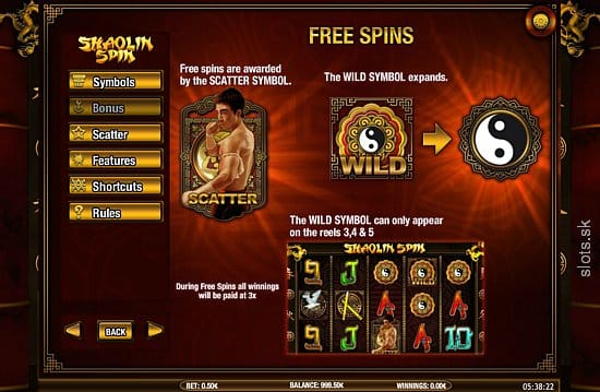 Shaolin Spin Slot Game Free Spin