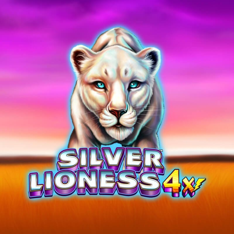 silver lioness 4x slots game logo