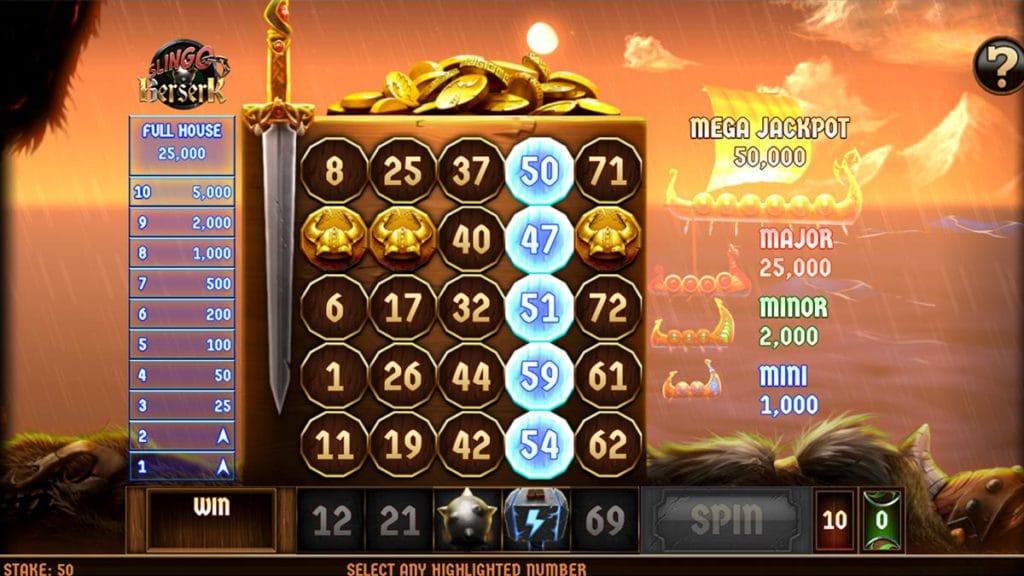 Slingo Berserk Slots Gameplay