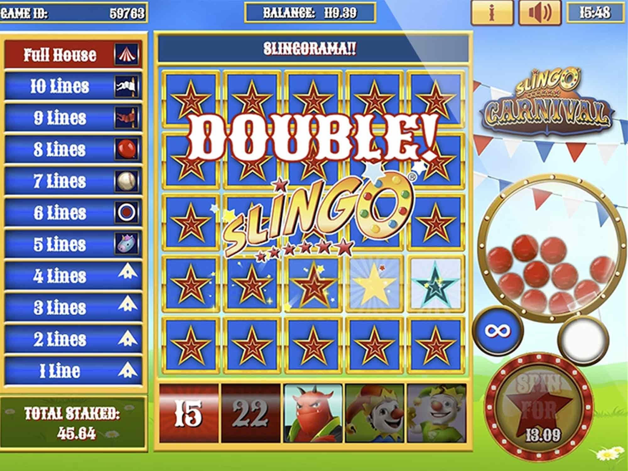 Slingo Carnival Slot Win