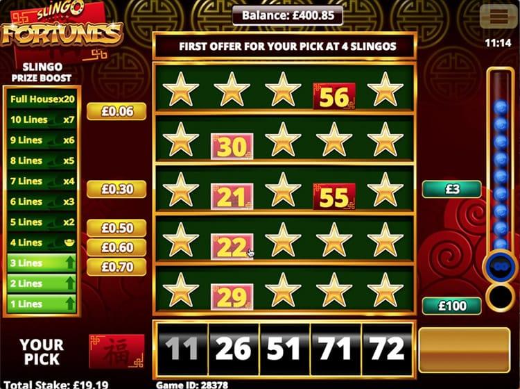 Slingo Fortunes Slots Gameplay