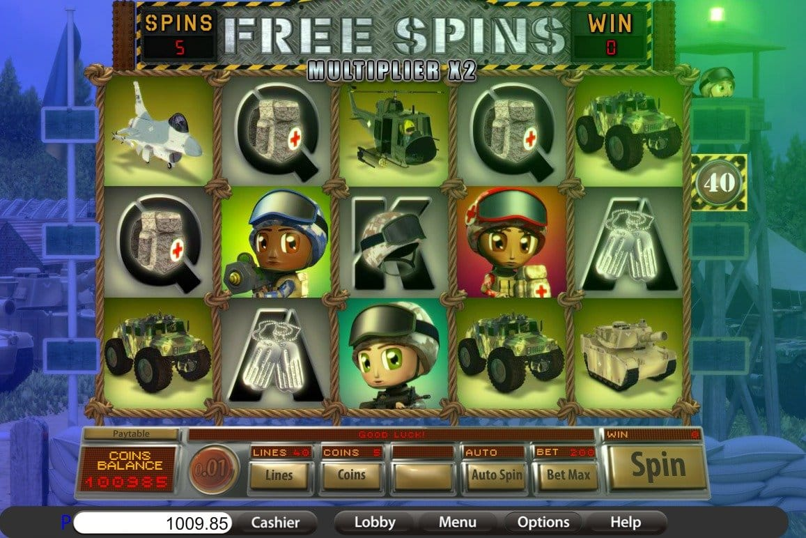 small soldiers free spins