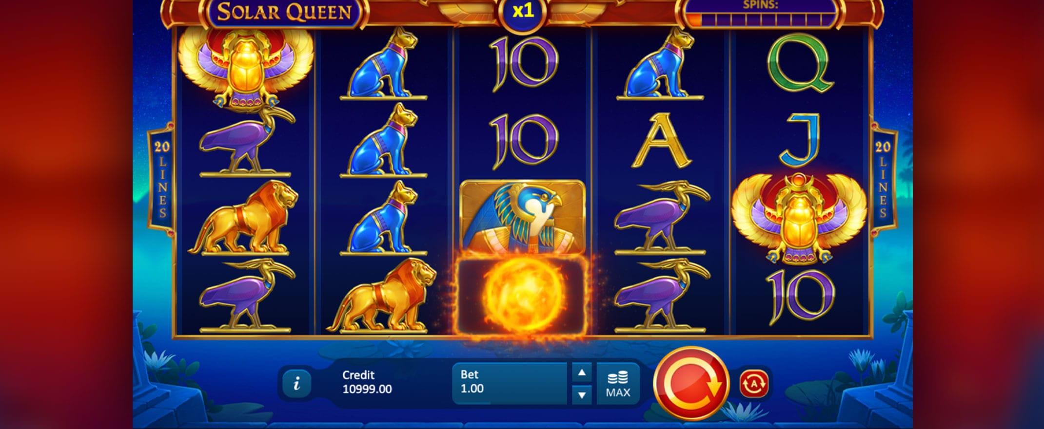 Solar Queen New Online Slot Gameplay