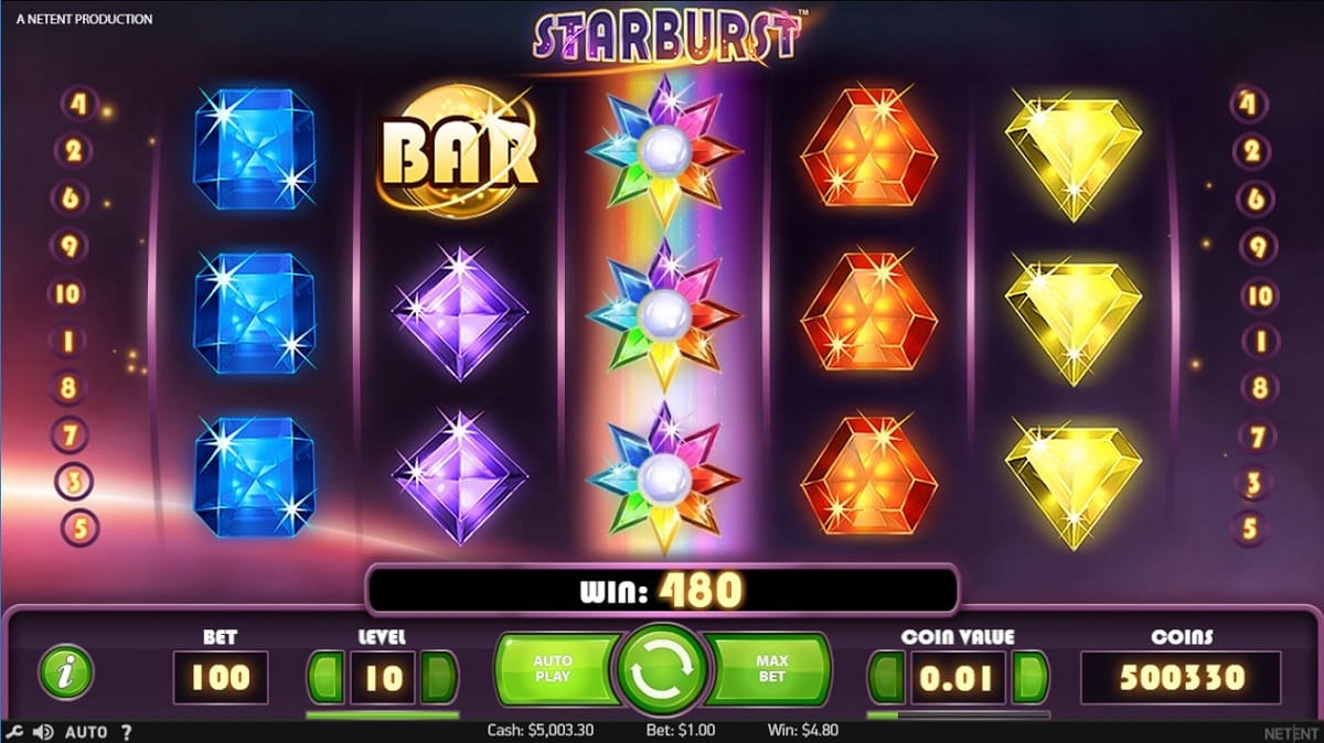 starburst spins gameplay