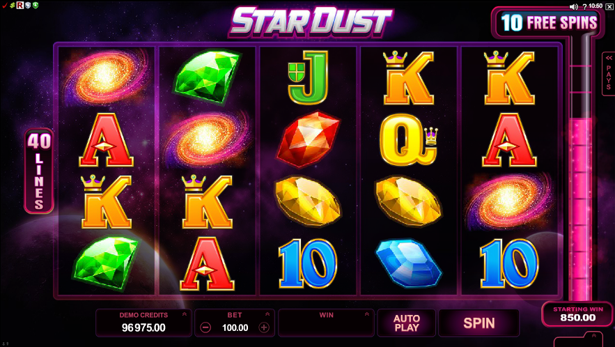 Stardust Slot Game Gameplay