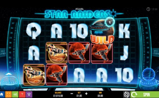 Star Raiders Slot Slots Game logo