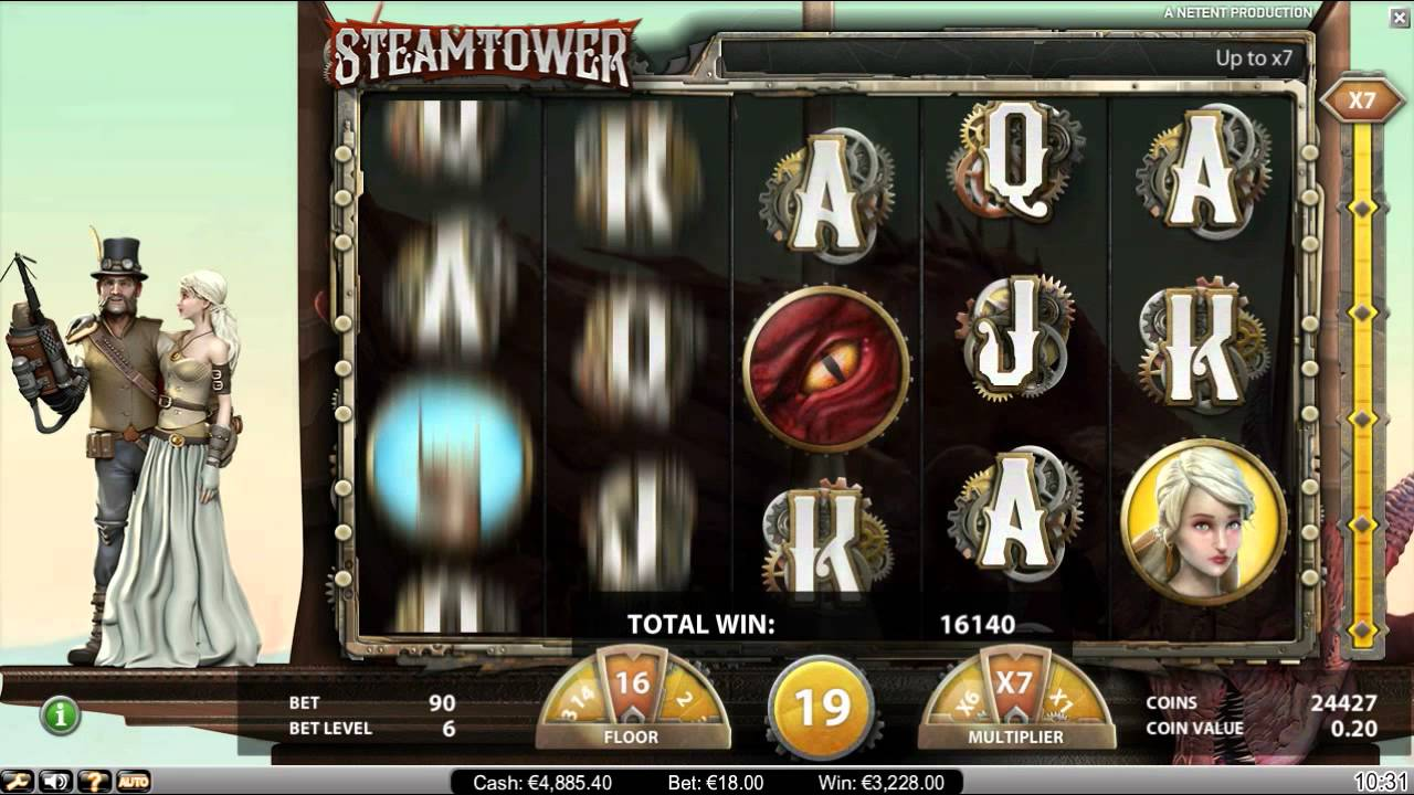 Steam Tower Gameplay
