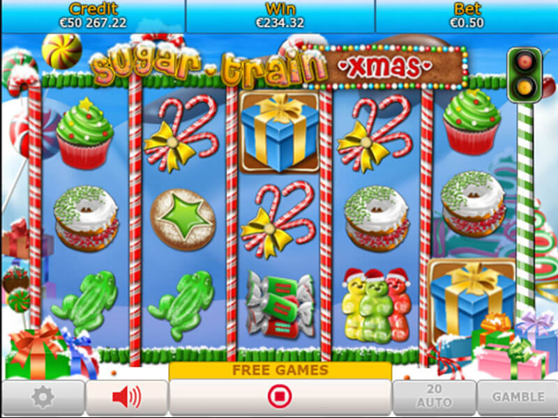 Sugar Train Xmas Slot Game Gameplay