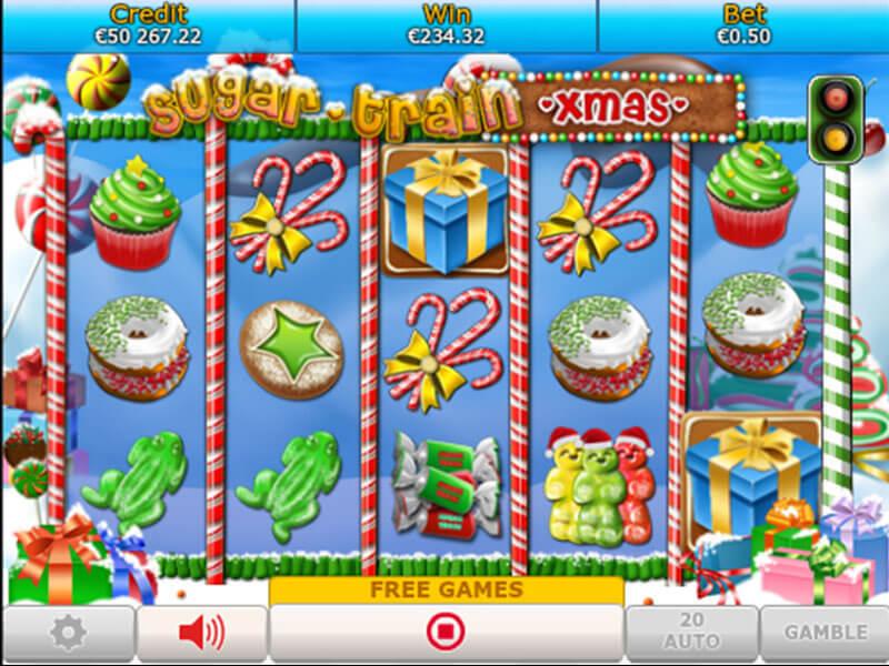 Sugar Train Xmas Slot Game Gameplay