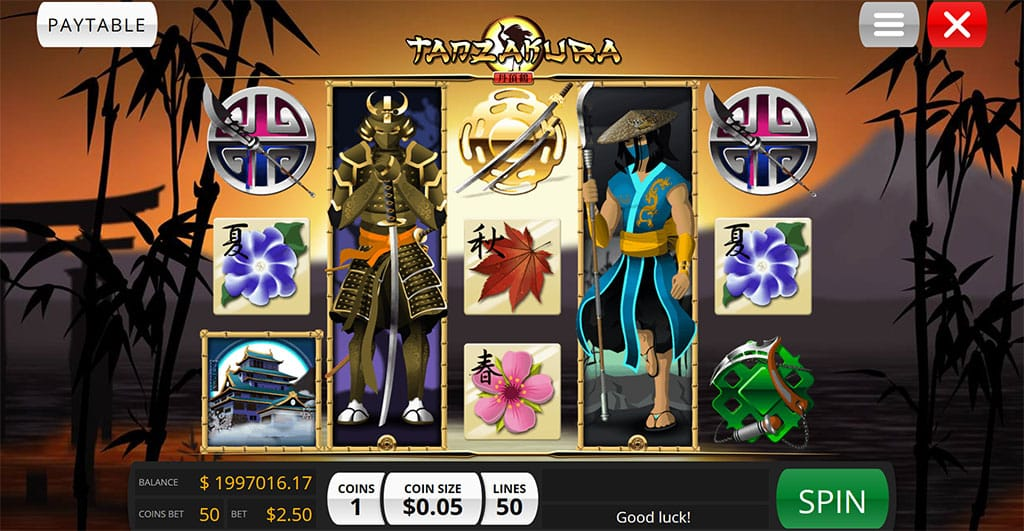 Tanzakura new UK Slots paytable