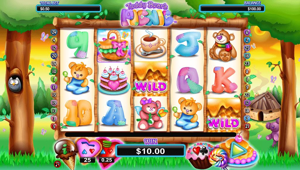 Teddy Bears Picnic Slot Game Gameplay