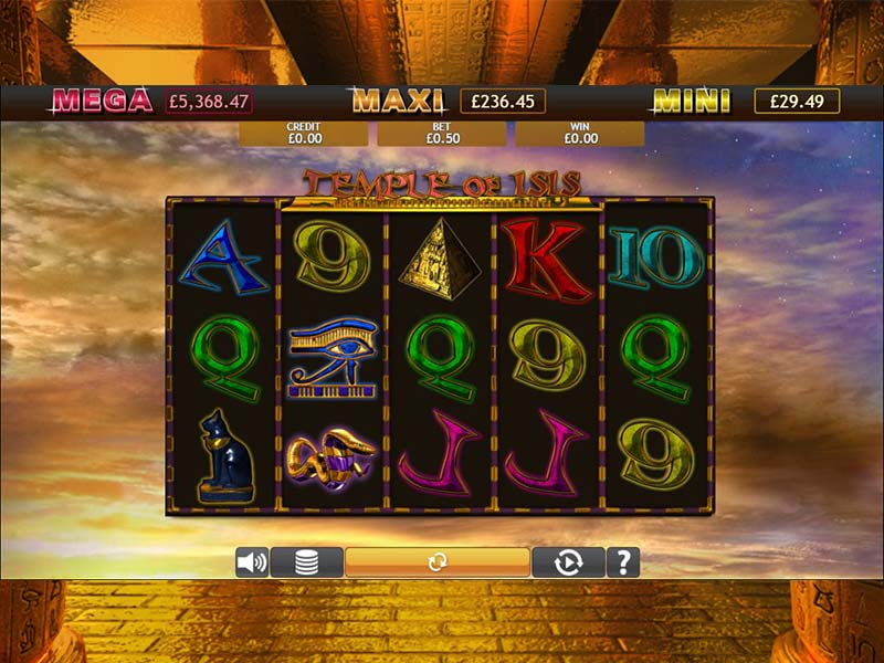 Temple of Isis Jackpot Gameplay