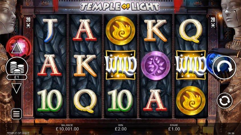 Temple of Light Slot Reels