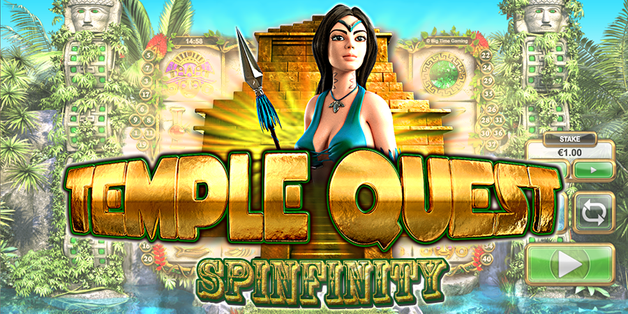 temple quest spinfinity slots game logo