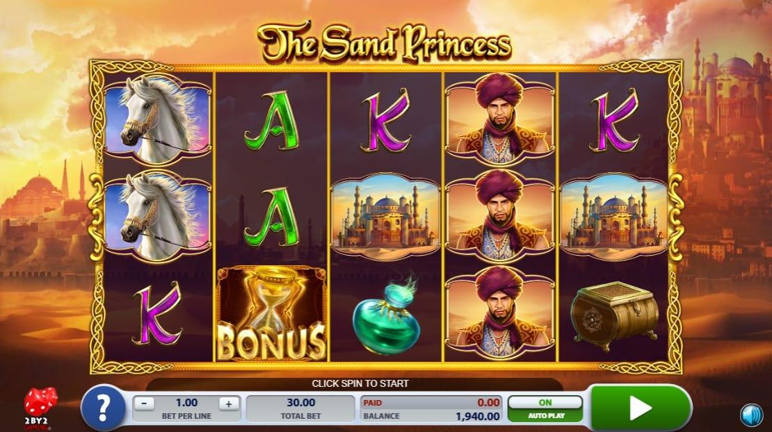 the sand princess gameplay