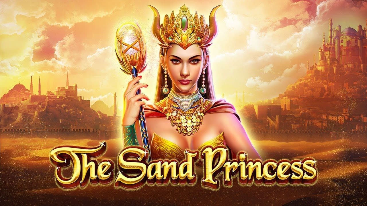 the sand princess slots game logo