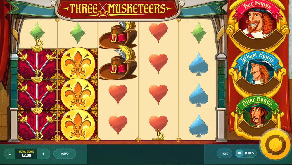 Three Musketeers Gameplay