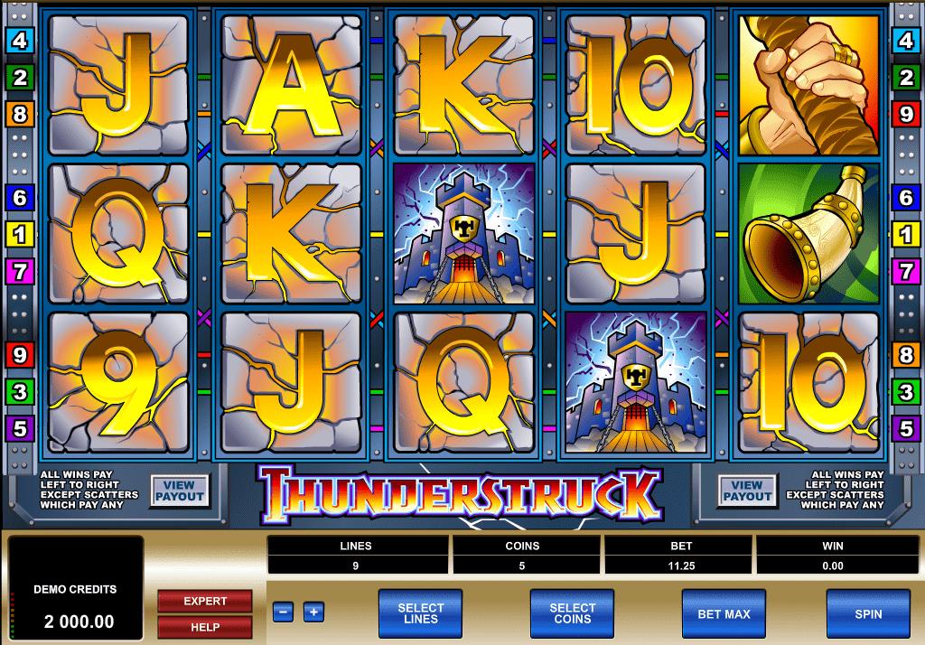 Thunderstruck Screenshot Slot Game