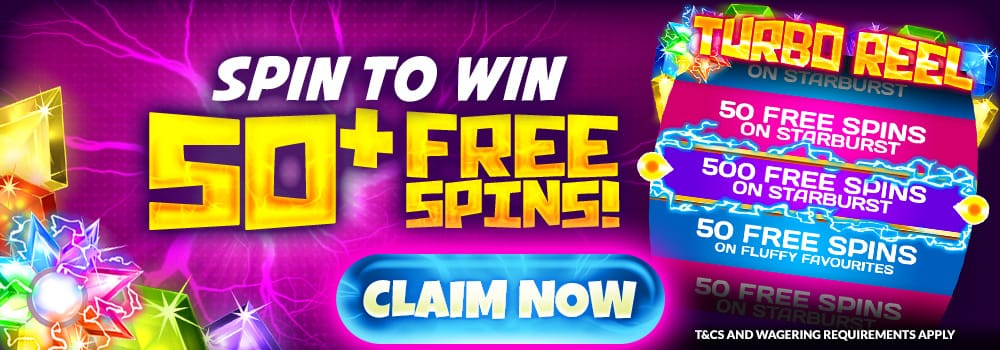50 Free Spins - Slots Baby