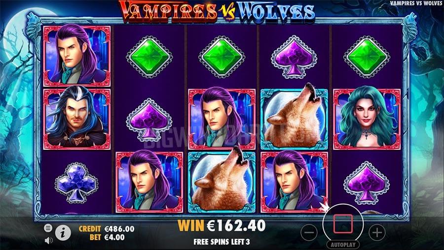 Vampire vs Wolves Casino Gameplay