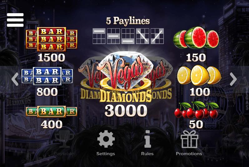 Vegas Diamonds Symbols