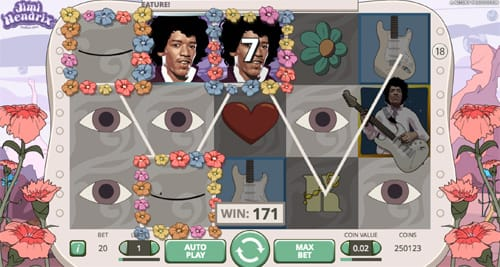 Jimi Hendrix Slots Game Gameplay