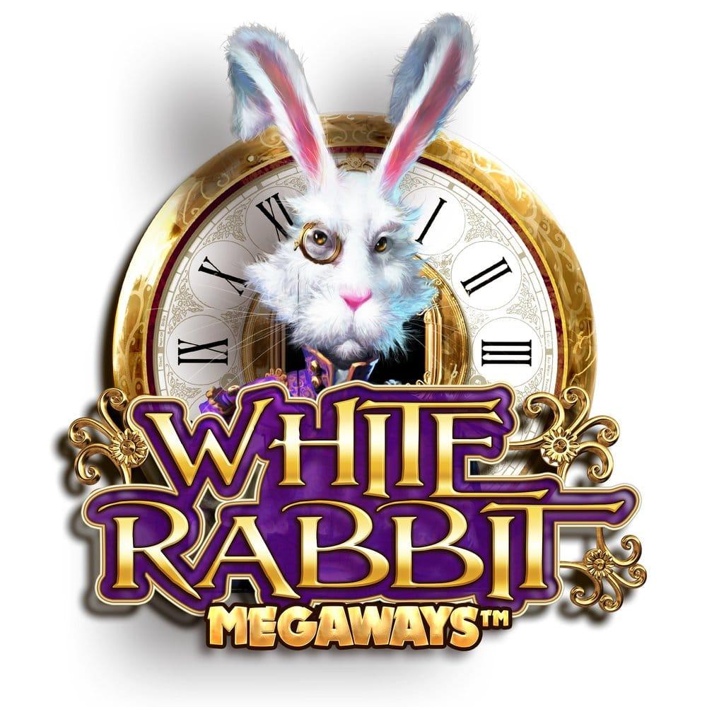 white rabbit slots game logo