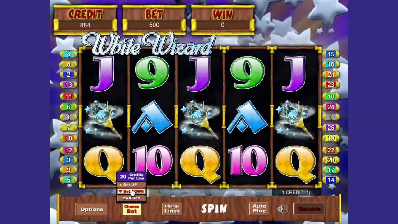 White Wizard Slots Game gameplay