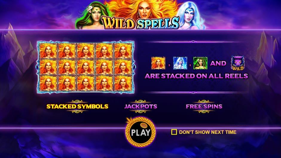 wild spells paytable