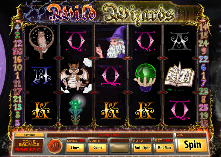 wild wizard slots gameplay