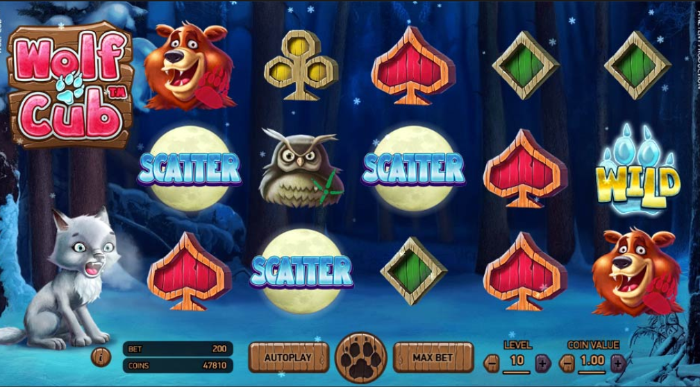 Wolf Cub Slot Game Screenshot