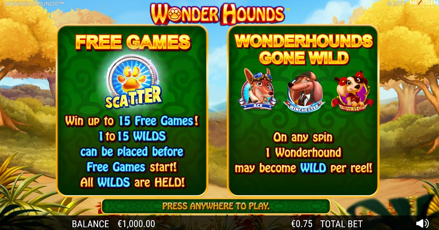 Wonder Hounds free spins